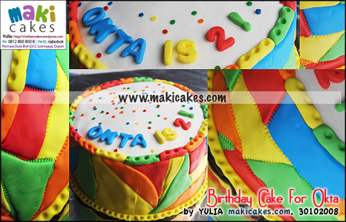Birthday Cake for Okta - Maki Cakes