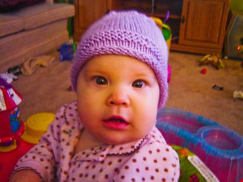 Cute girl in a cute hat