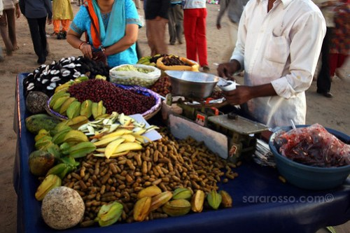 Fruit and Nut snacks on Juhu Beach, Mumbai - Bombay, India