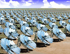 Artist's Rendition of a Stirling Systems Solar Dish Array