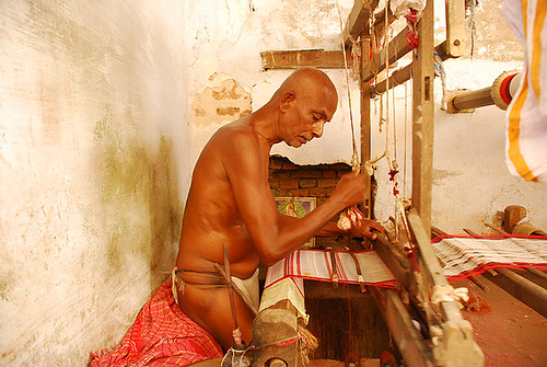 an old weaver
