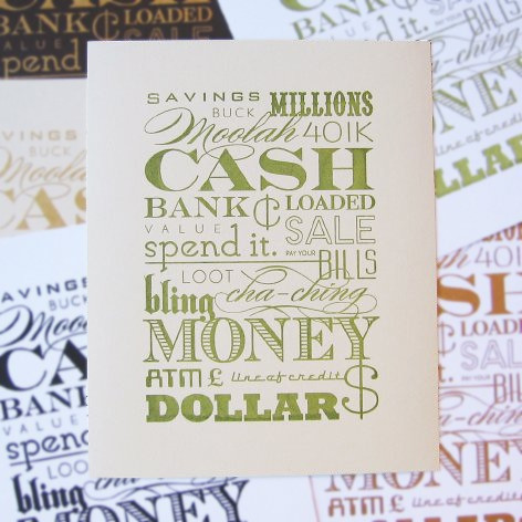 Cash Money Print :: Tan