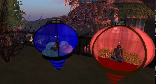 Meditating in Second Life by you.