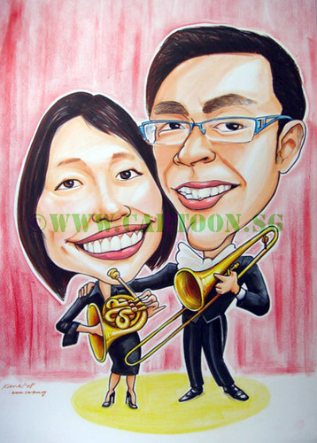 gift for boyfriend. what to buy as gift to girlfriend, special gift for couple, caricatures, cartoon drawing of couple