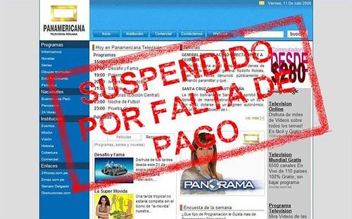 Web de pantel suspendida