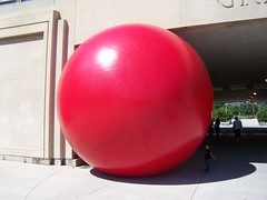 Red Ball at Underpass