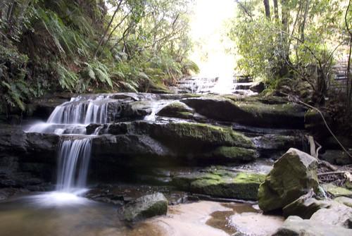 Las cascadas desde la cueva