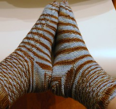 Twisted Tweed socks - Done