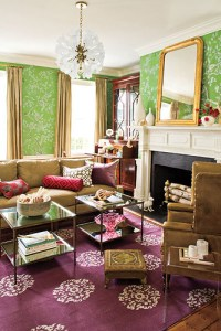 Southern Living big color living room