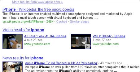Video google search