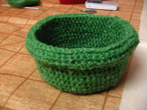 Rolled brim basket 1