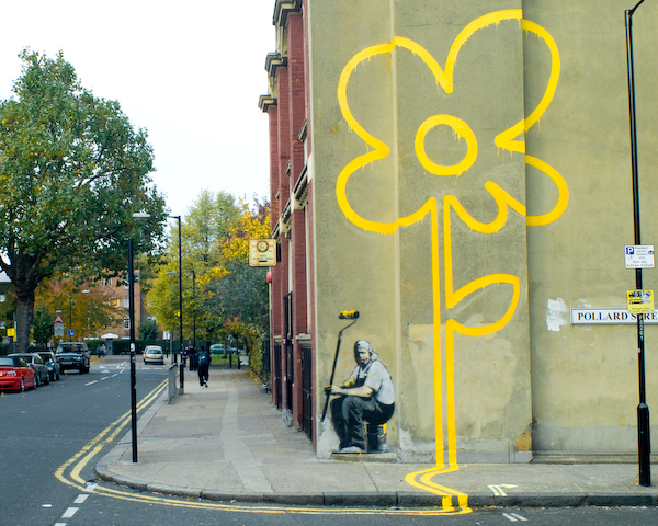 Banksy: Double Yellow Flower