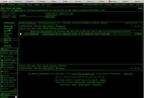 Gmail Terminal Theme