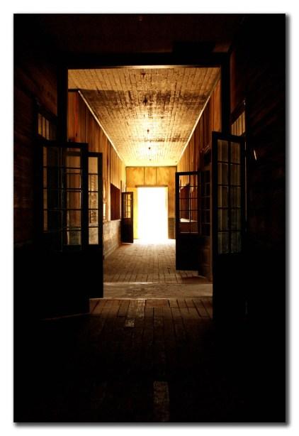 Pasillo de la escuela del pueblo minero de Humberstone