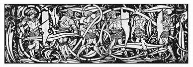 Aubrey Beardsley. Headpiece. Le Morte d'Arthur. 1894.