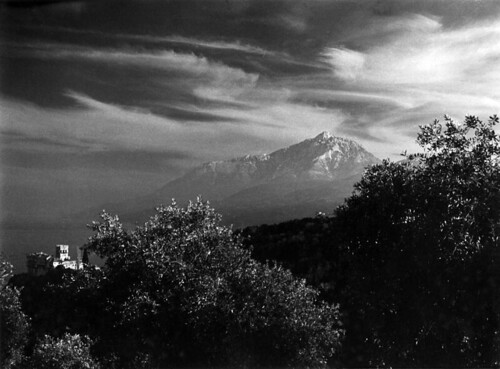 Mt. Athos and sky