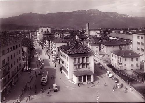 postcard - bolzano - 1961 - incrocio via roma via torino via dalmazia