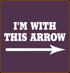 with this arrow