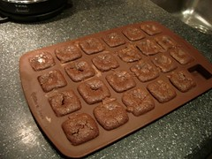 The Wilton Silicone Brownie Pan. Not silicon. That would be weird.