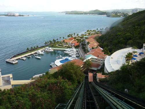The cable car up to El Conquistador resort