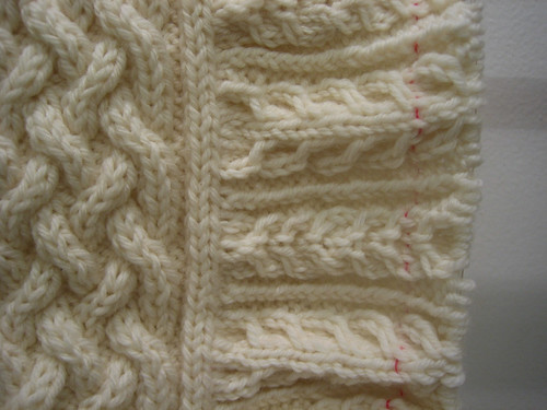 Aran Braid Yoke Cardigan