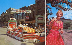 Traverse MI Cherry Queens Parade Float 1964 Cherry Festival