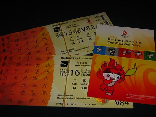 Beach volley Olympics tickets!!!
