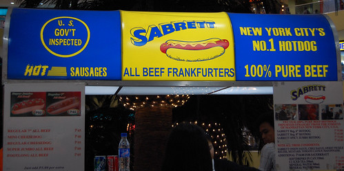 Sabrett hot dog vendor
