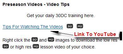 30DC Videos - Link to YouTube Video