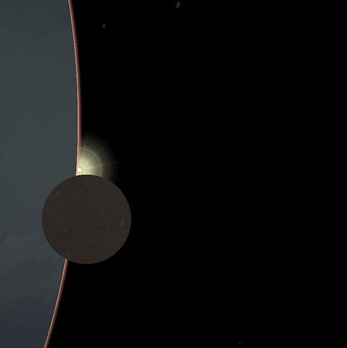 Urano eclipsing miranda
