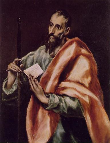 El Greco, San Pablo (1608-1614). Museo del Greco, Toledo.