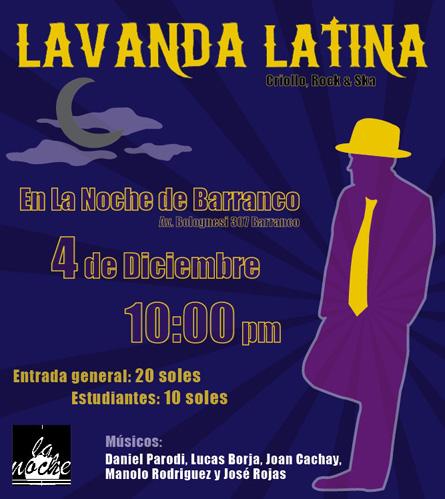 Afiche Lavanda Latina