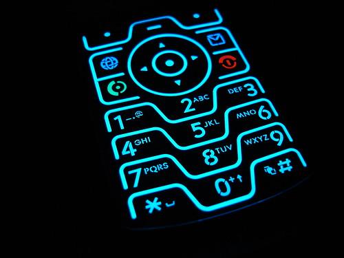 Teclado de un Motorola V3