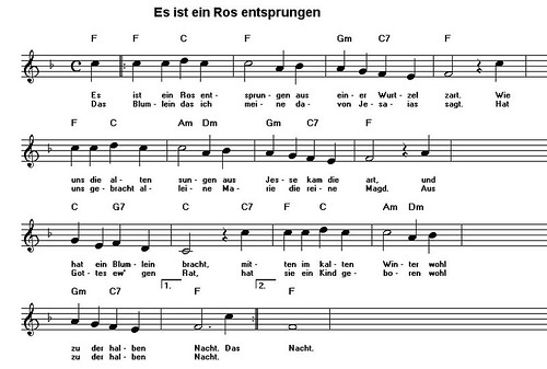 click image for large music sheet - German Christmas Music