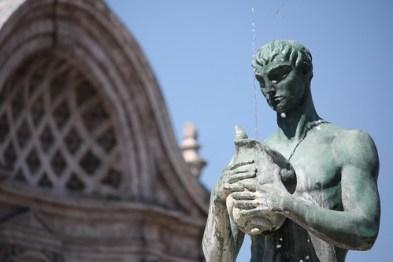Particolare fontana di Piazza del Duomo, LAquila. Crediti: aquilano76  / Andrea