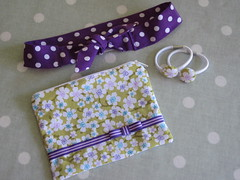 Zipped pouch headband and hairband