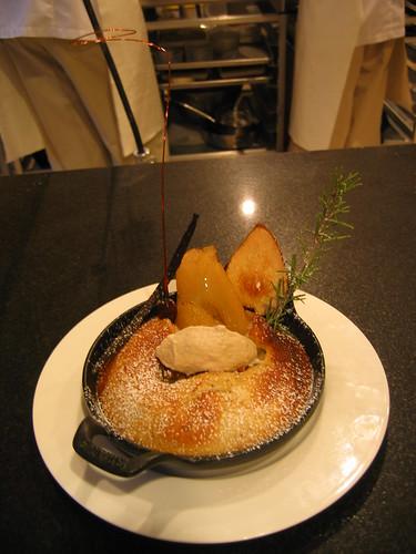 Pear Financier with Hazelnut Ice Cream