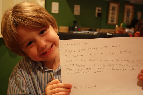 nephew with letter