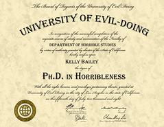 Ph.D. in Horribleness