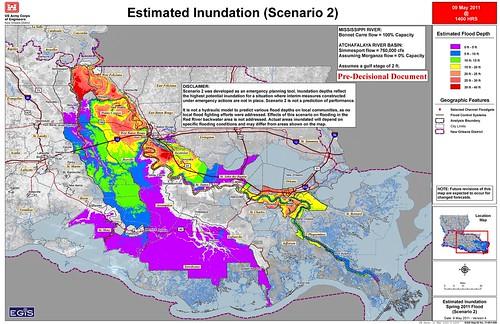 New Orleans District Inundation Map Scenario 2