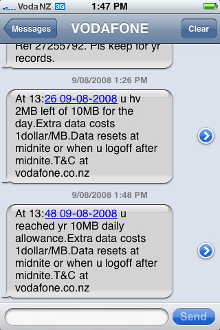 Vodafone NZ new daily casual data cap