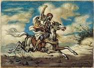Giorgio de Chirico. Árabe a caballo, 1935.