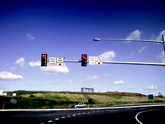 Traffic light, off-ramp from Rte. US-422 East ...