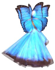 Wandless Blue Fairy {Back}