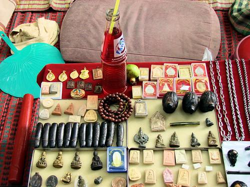 Mercado de los amuletos de Bangkok.