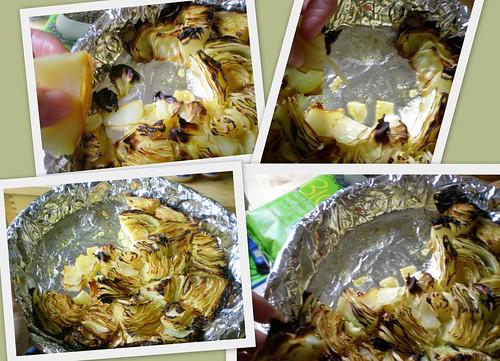 2009-10-09 October 9 - cabbage & making tea1