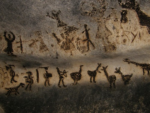 Prehistoric Painting by Klearchos Kapoutsis.
