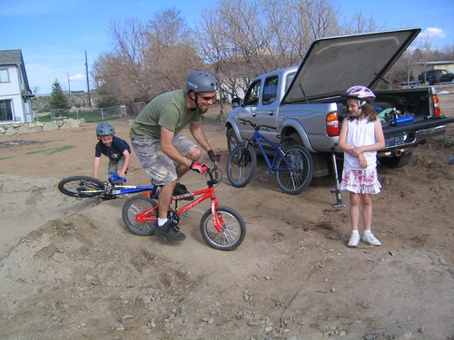 Big Dork on Little Bike