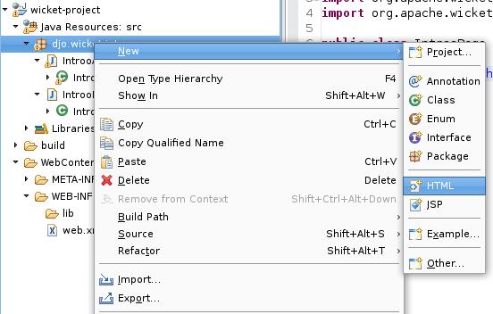 Créez une page HTML