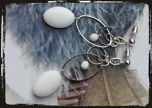 Orecchini bianchi - White earrings MEHLOBO